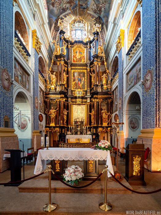 The altar in the basilica