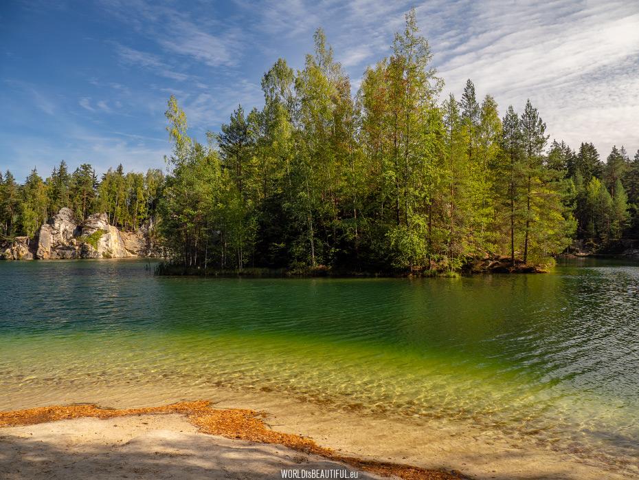 A mountain lake at the entrance