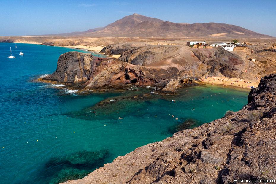 Plaża Papagayo na Lanzarote