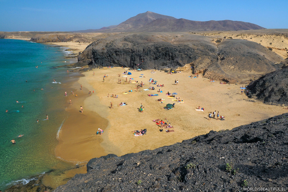 Beautiful beaches on Lanzarote