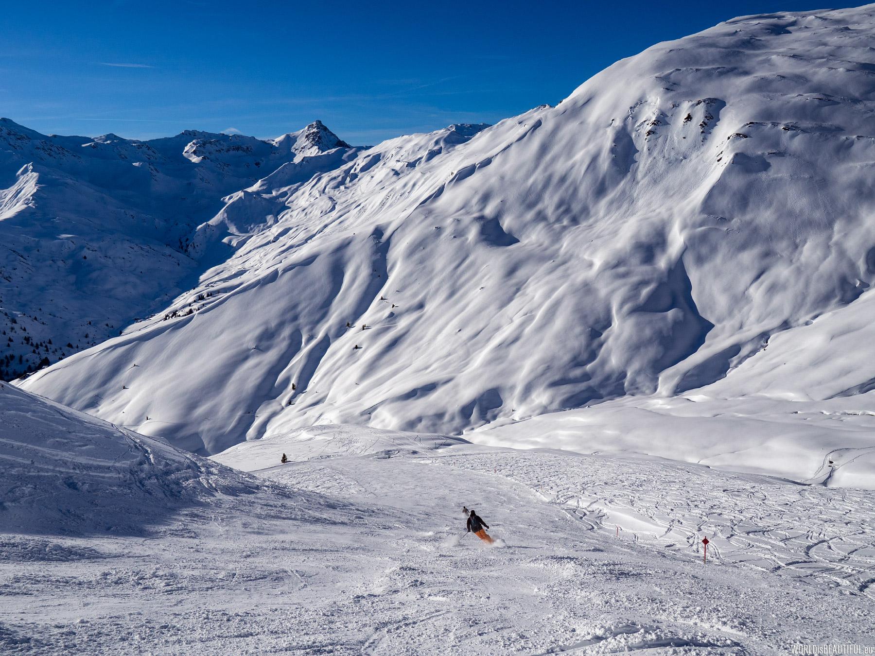 Red ski route - Rastkogel