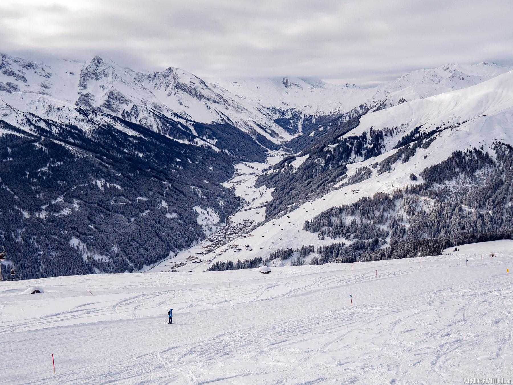 Blue ski route