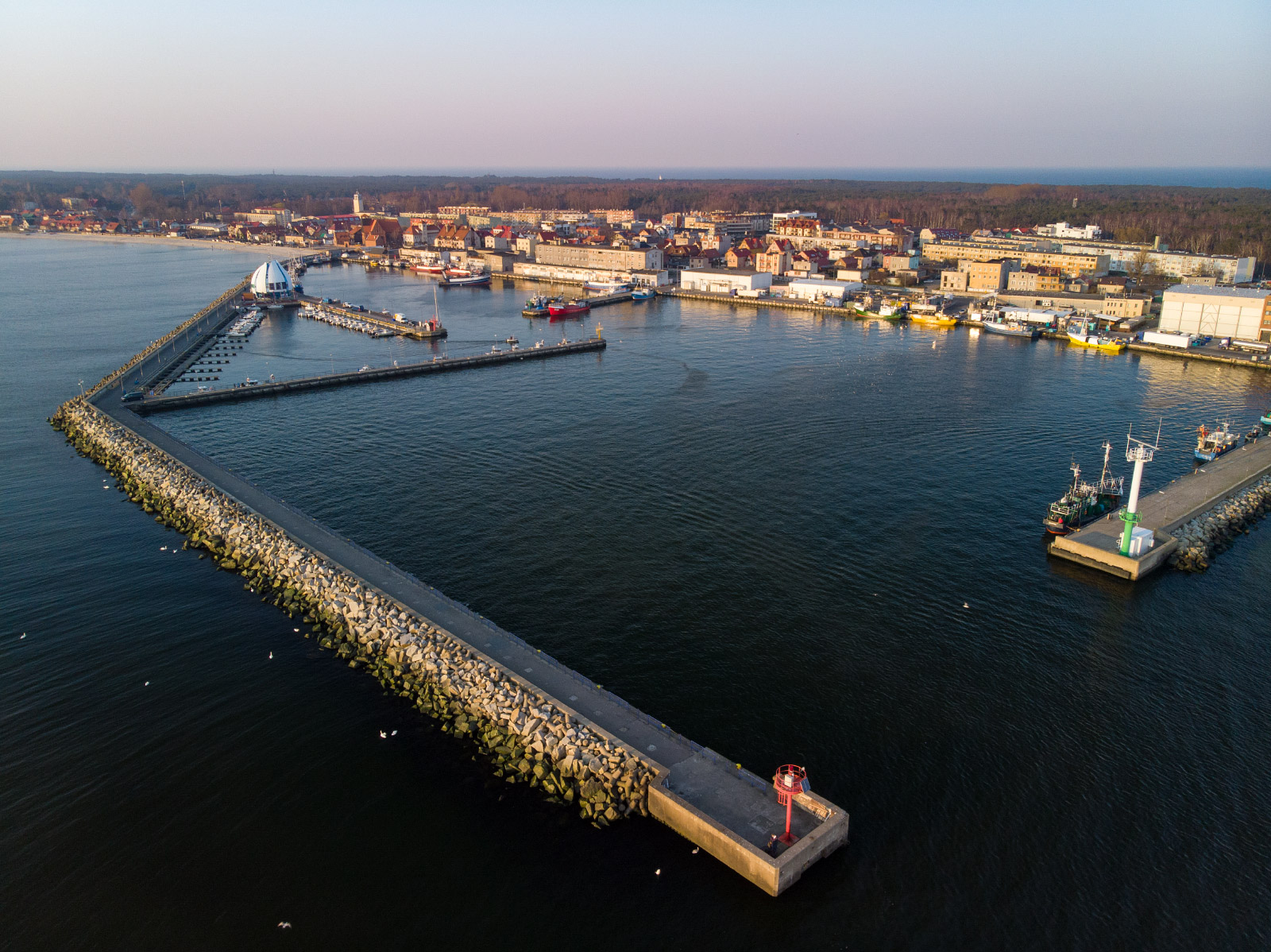 Port i marina, Hel