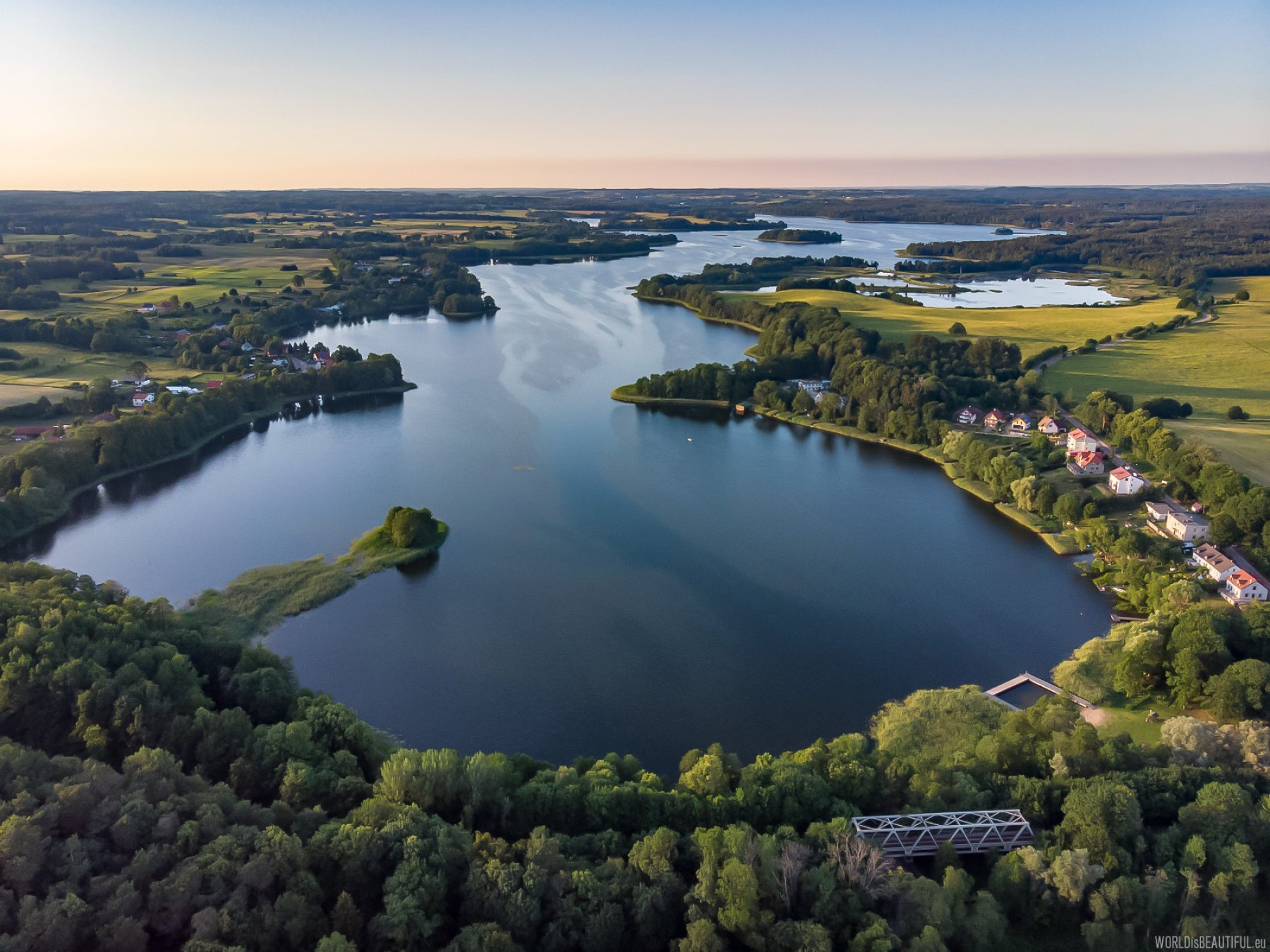 Masurian Lakes from a bird's eye view