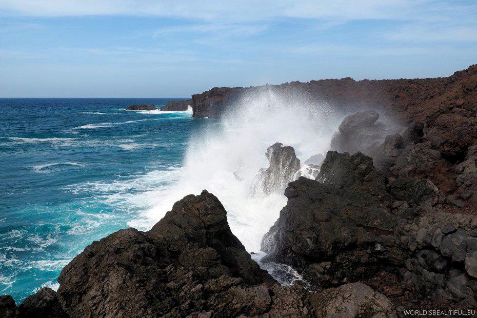 Wybrzeże oceanu - Punta del Marques