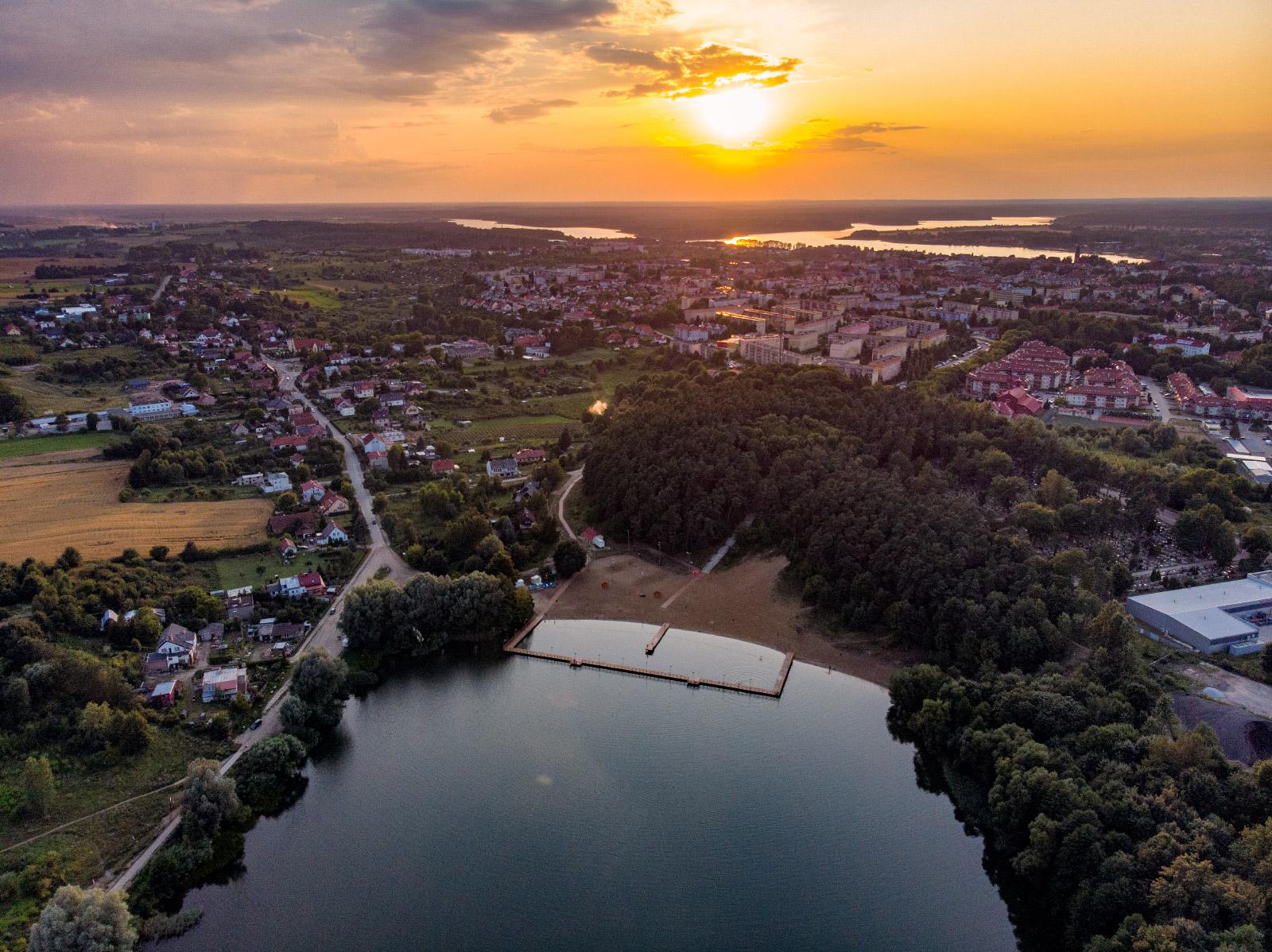 Ostróda - panorama of the city