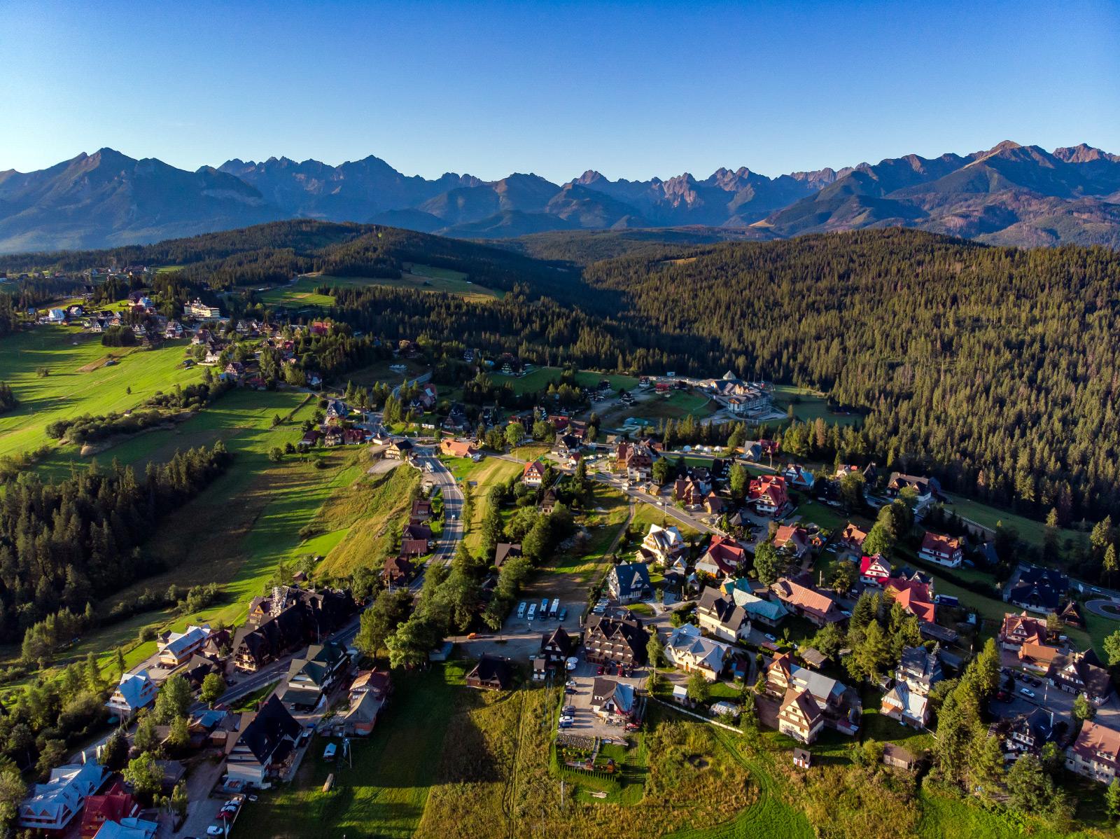 View of the Tatra Mountains from Bukowina Tatrzańska