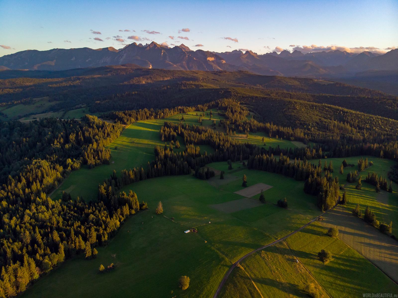 Panorama of the Tatra Mountains from Łapszanka