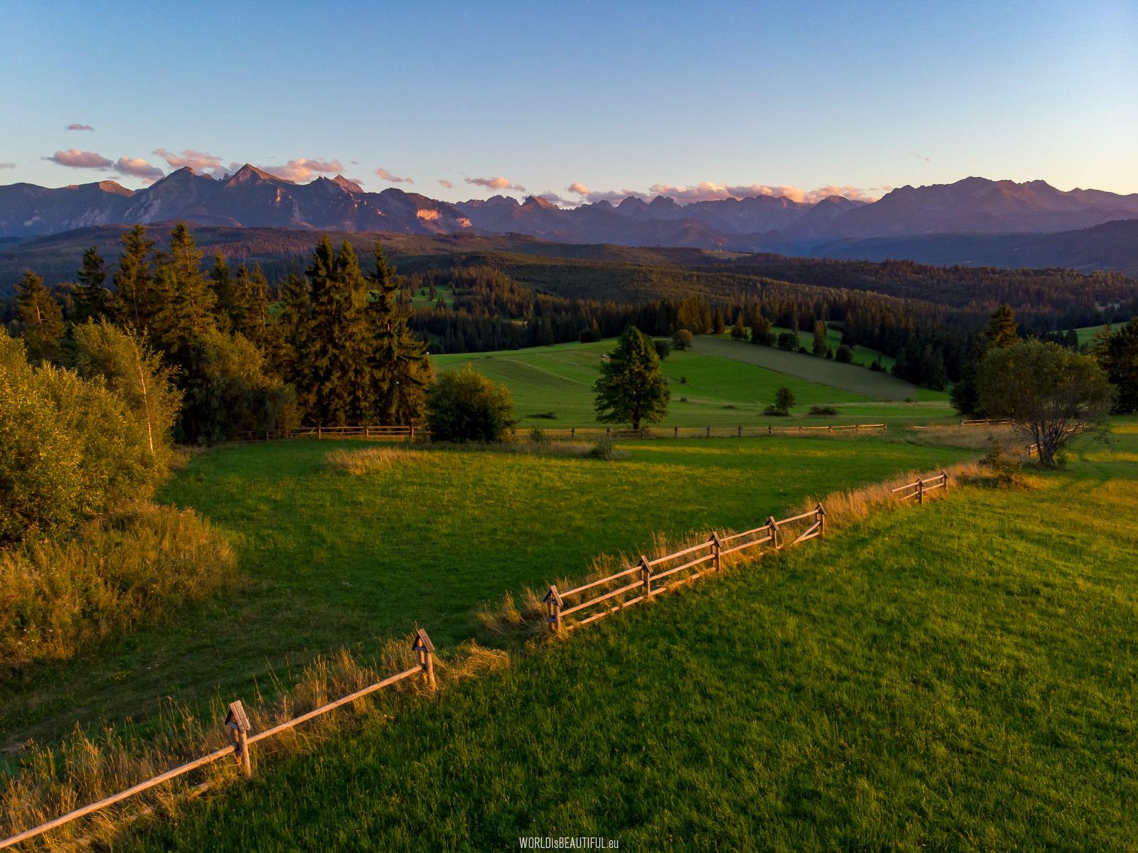 Łapszanka - a view of the Tatra Mountains