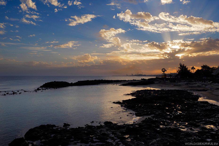 Costa Teguise, zachód słońca