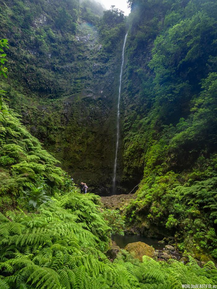 100-meter waterfall
