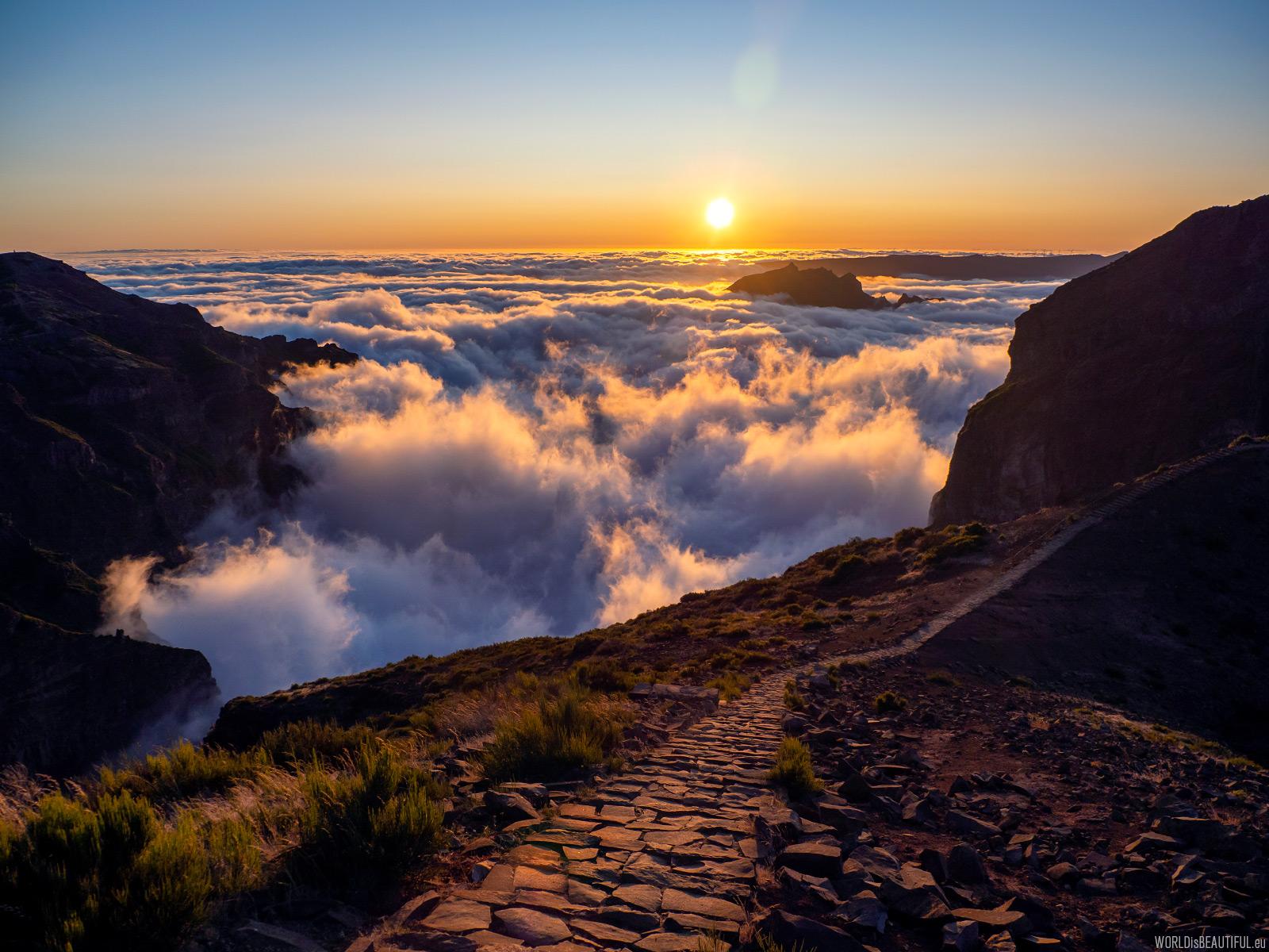 Górskie krajobrazy z Madery