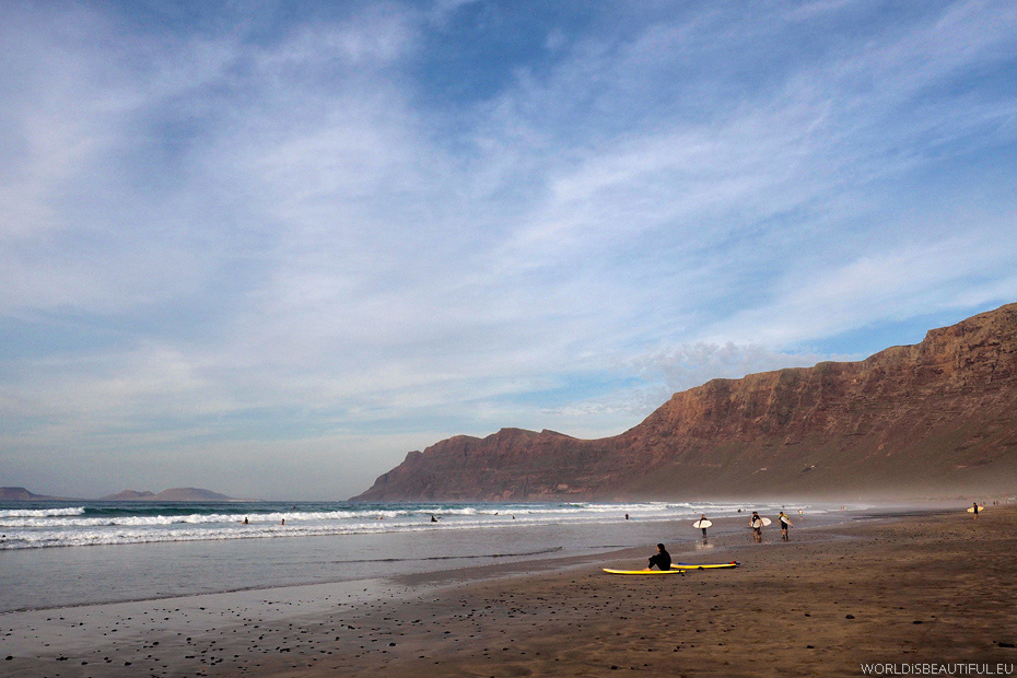 Plaża Famara, Lanzarote