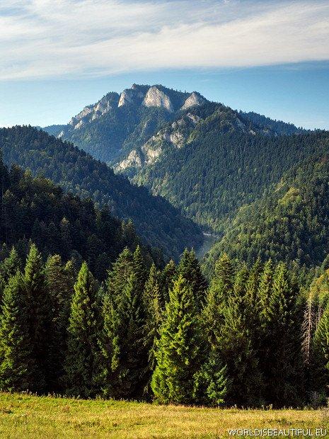 Trzy Korony widok ze Słowacji