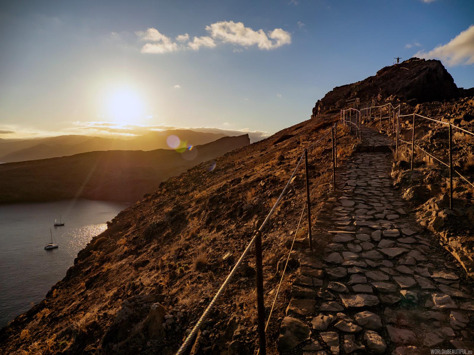Zachód słońca na Maderze