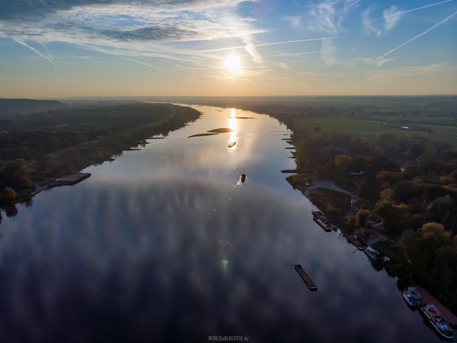 Sunset on the Vistula River