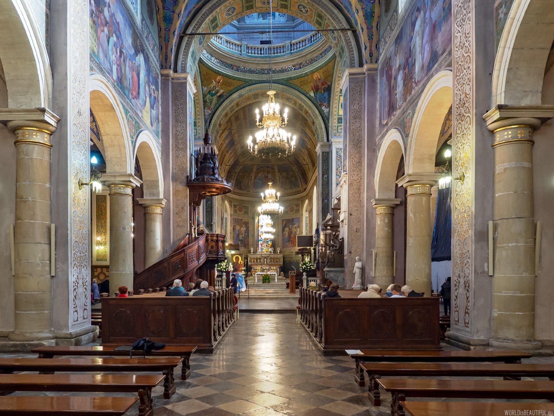 Interior of the Basilica in Płock