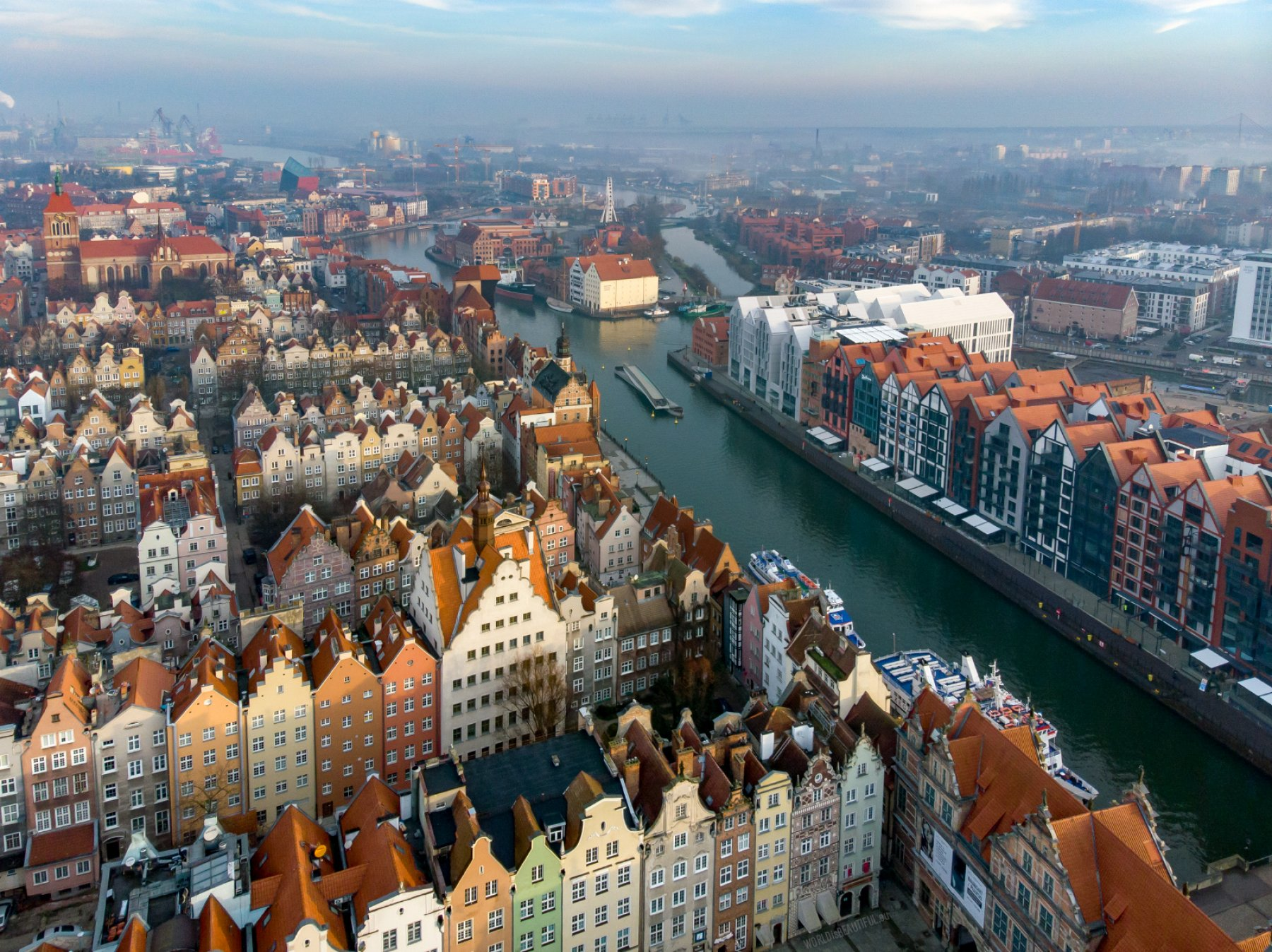Gdańsk from the sky | photography, photo gallery