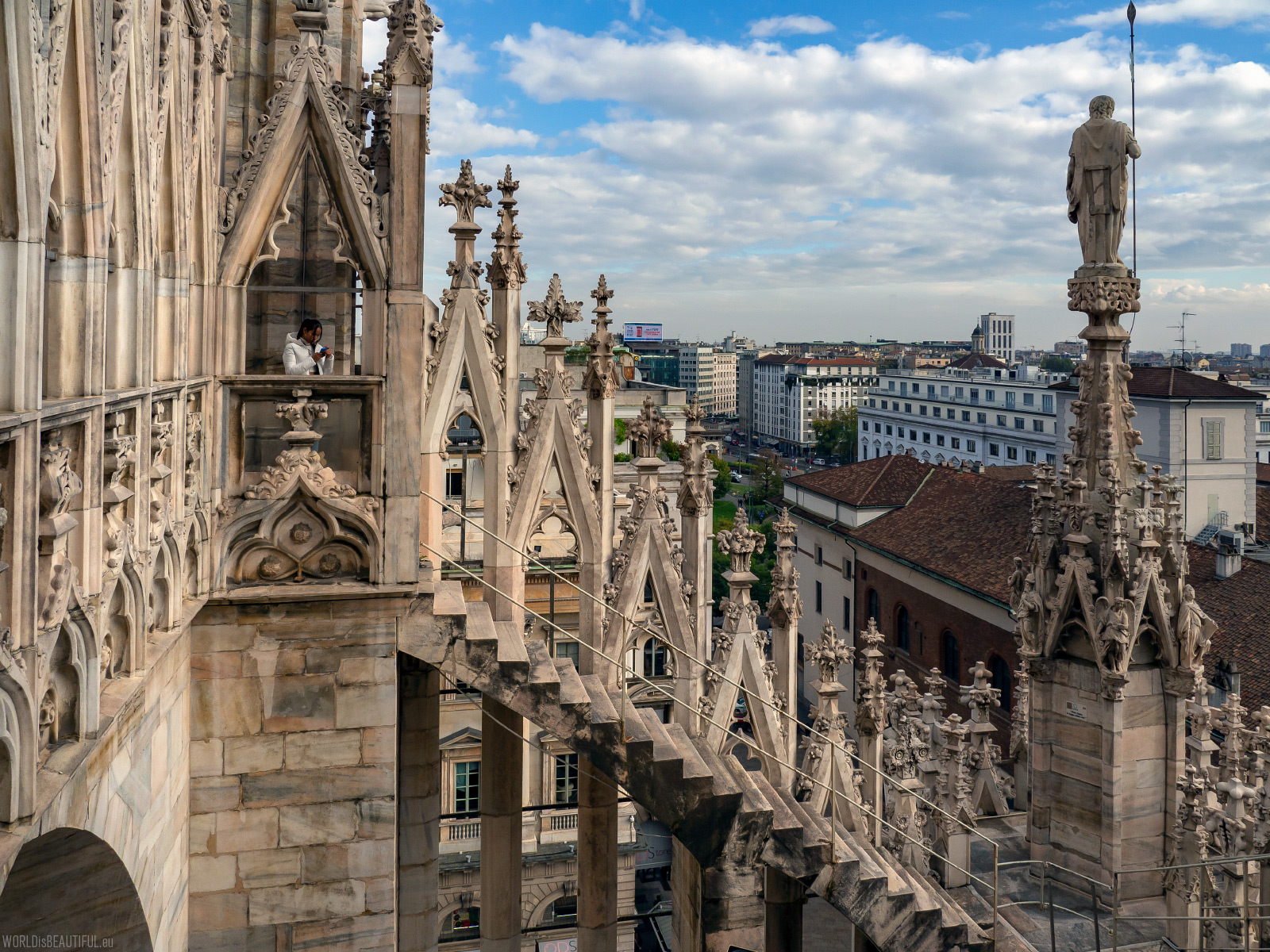 Visiting the roof of the cathedral