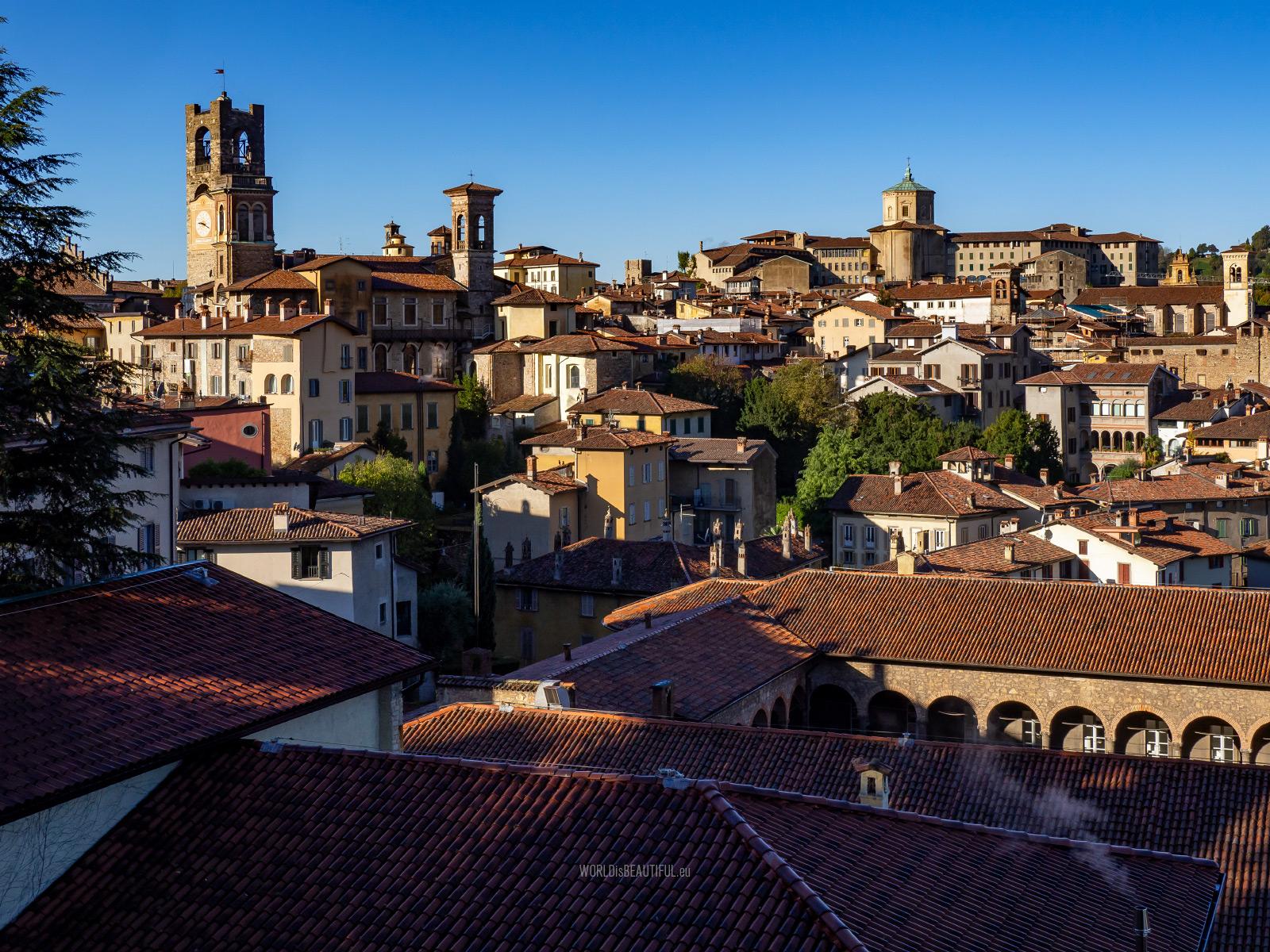 View from Rocca di Bergamo
