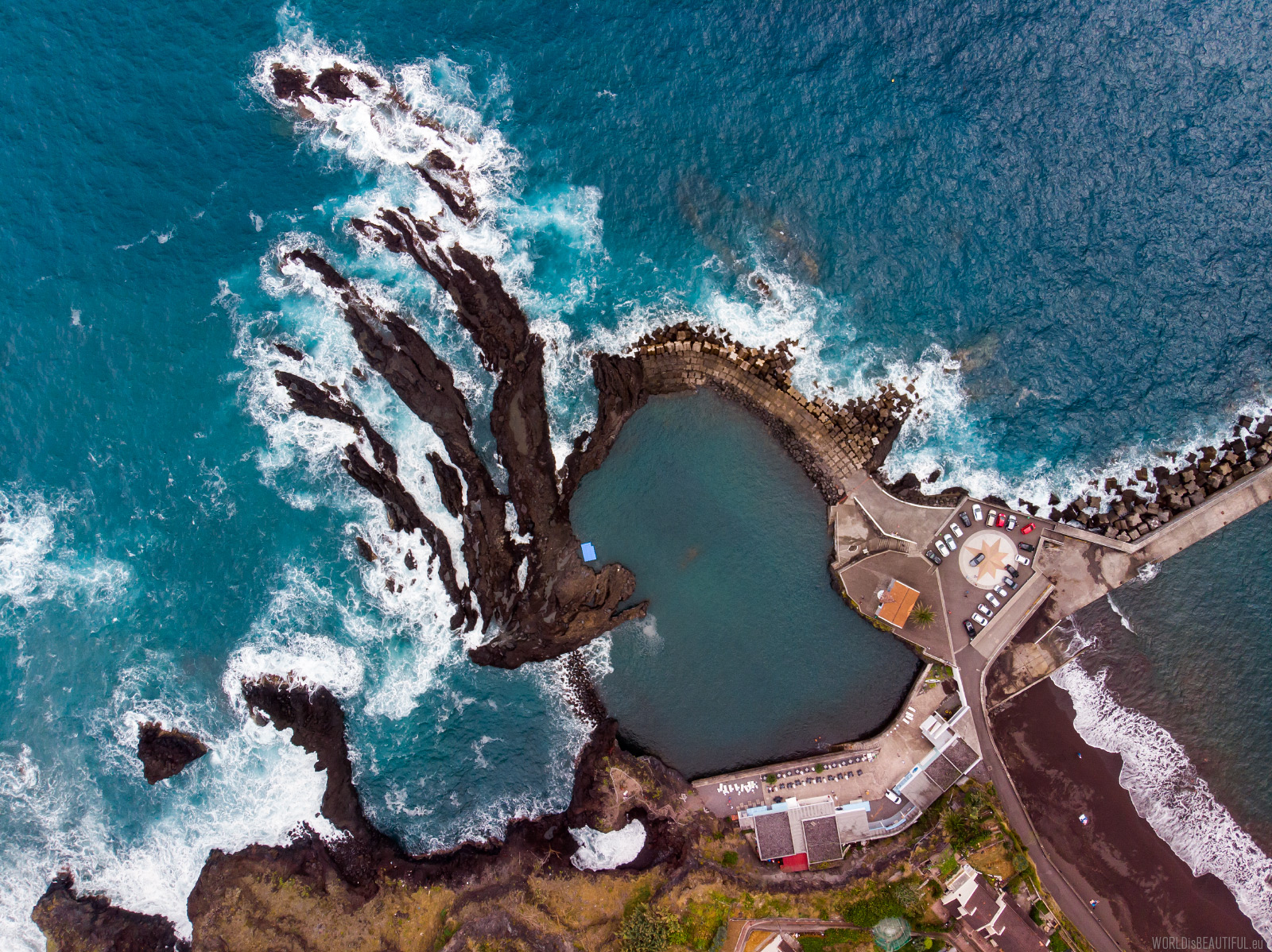 The beach and lava pools in Seixal