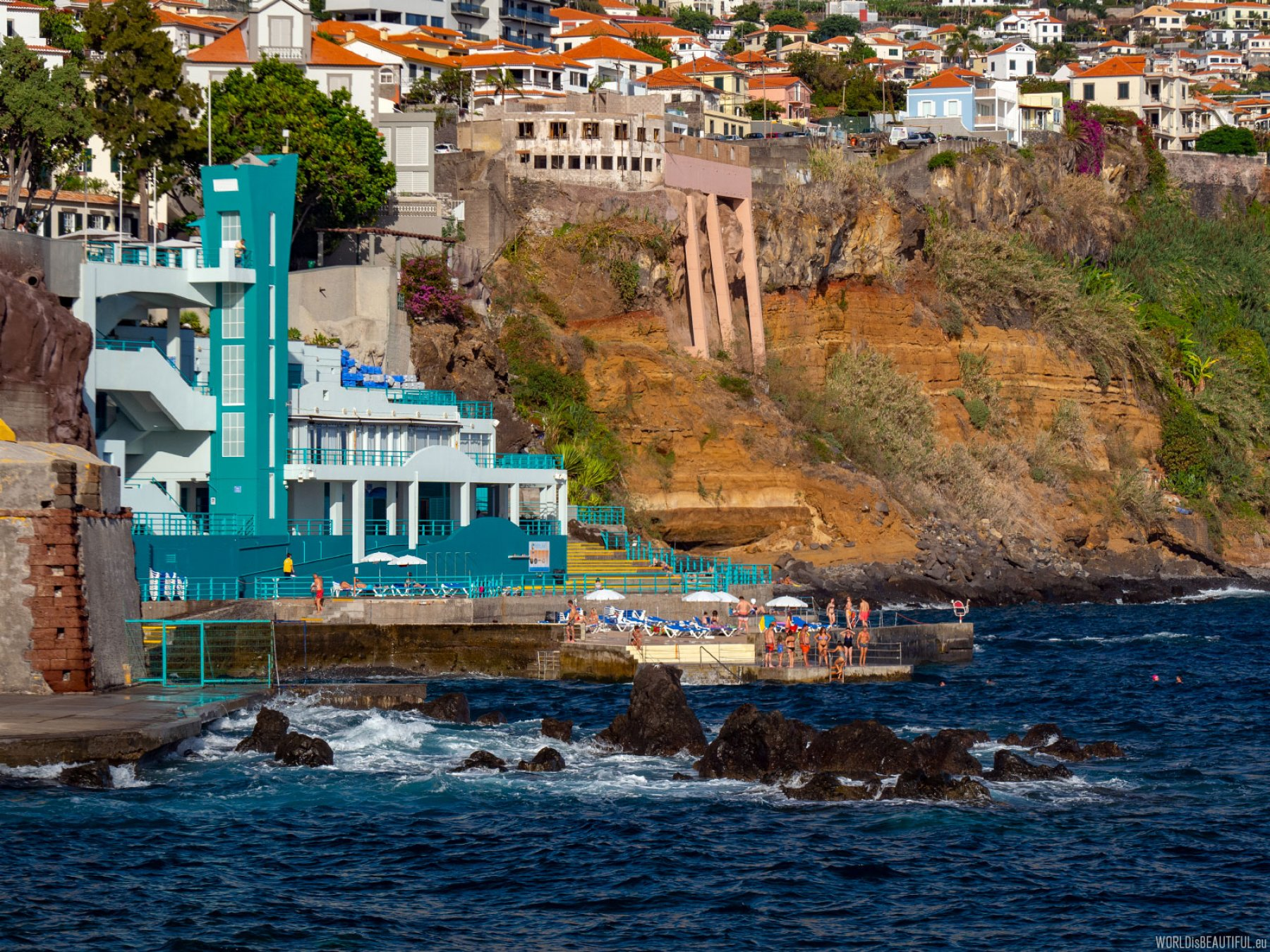 Funchal bathing beach