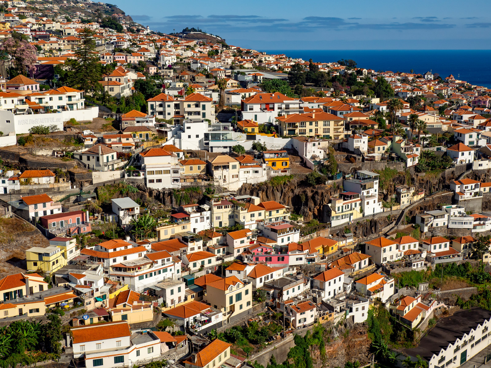 Funchal photo like a drone