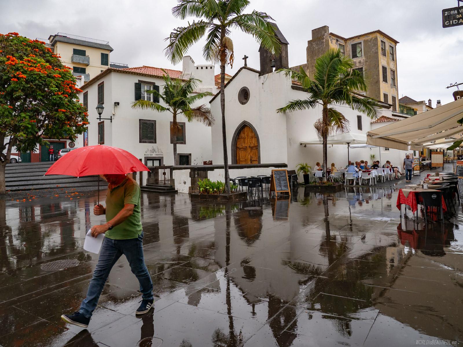 Rain in Funchal