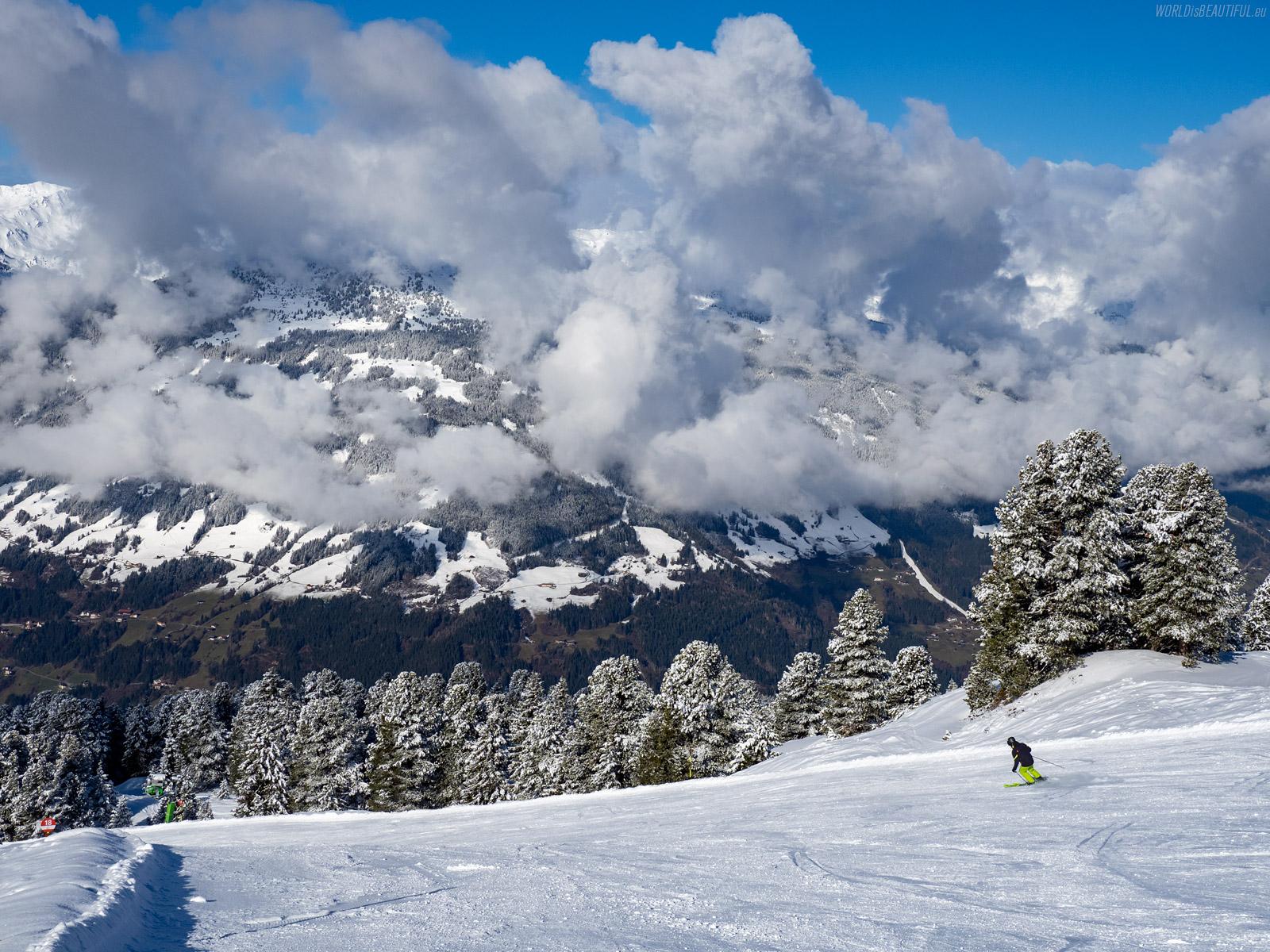 Ski runs at the Zillertal Ski Arena