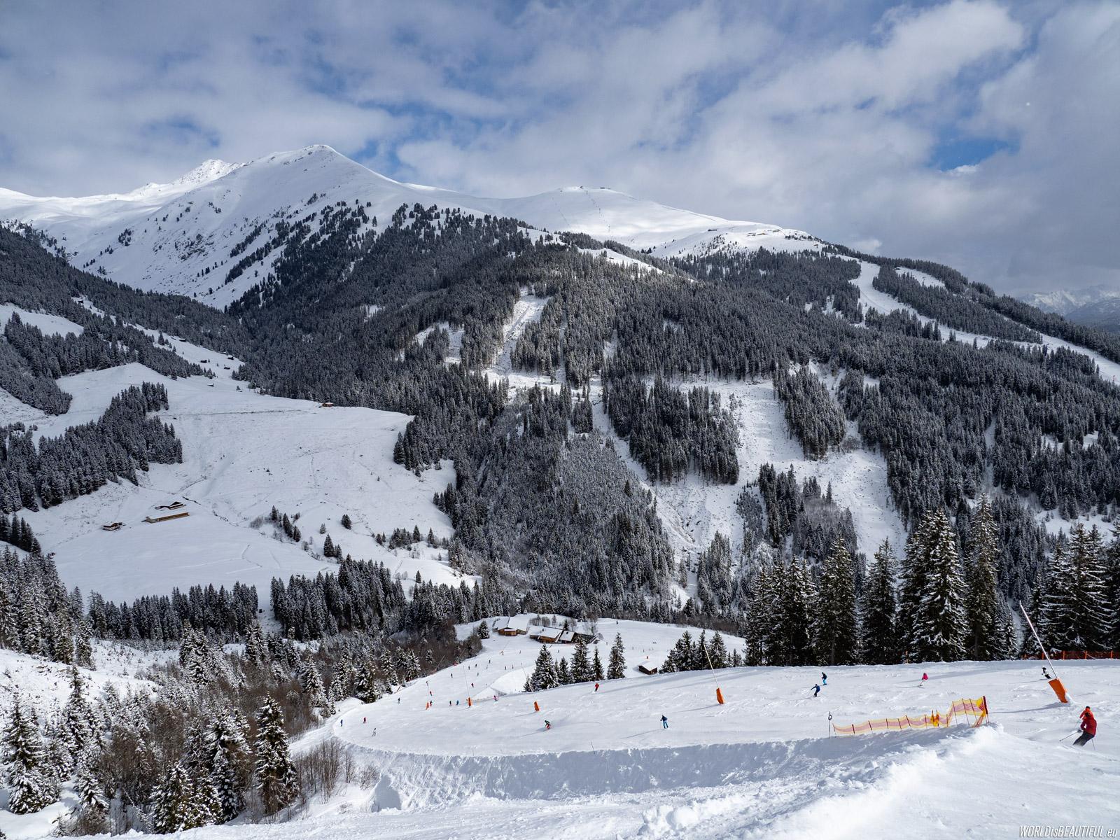 Black ski run to Gerlos