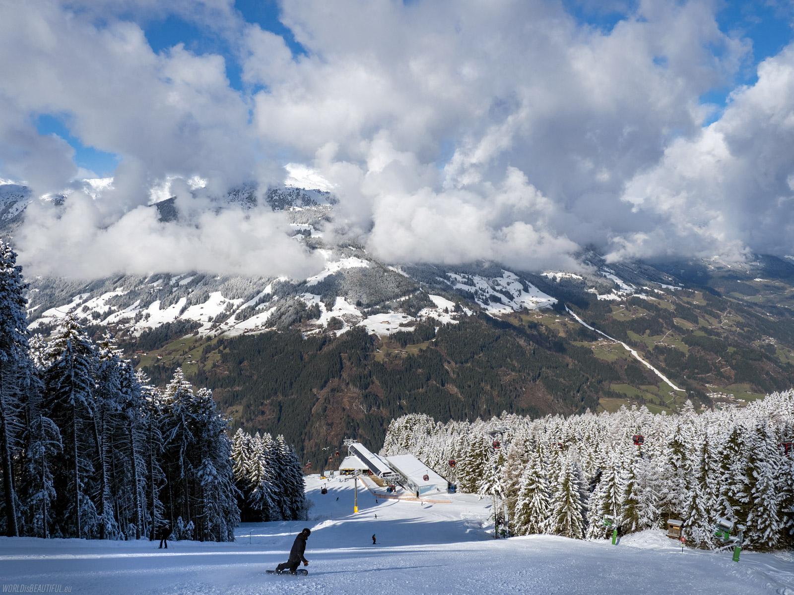 Stacja narciarska w Austrii