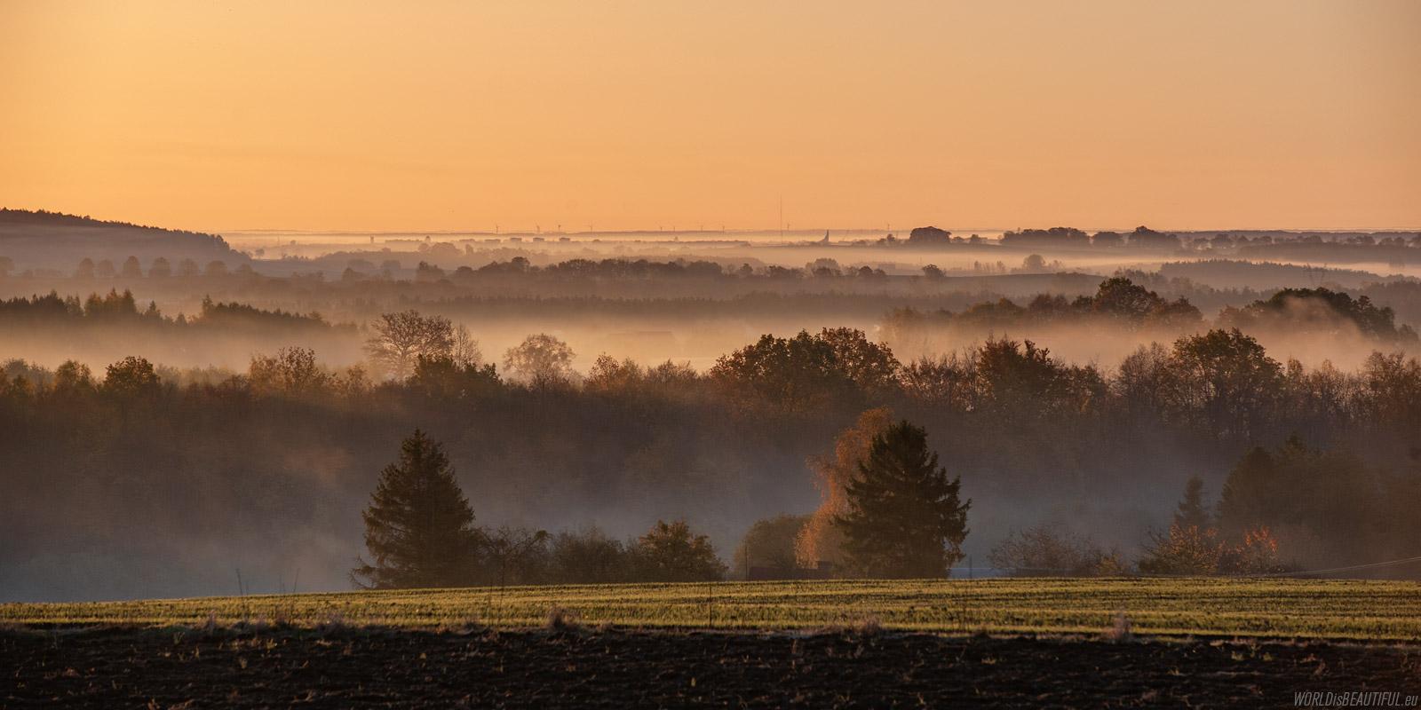 Poranna panorama z widokiem na Tczew