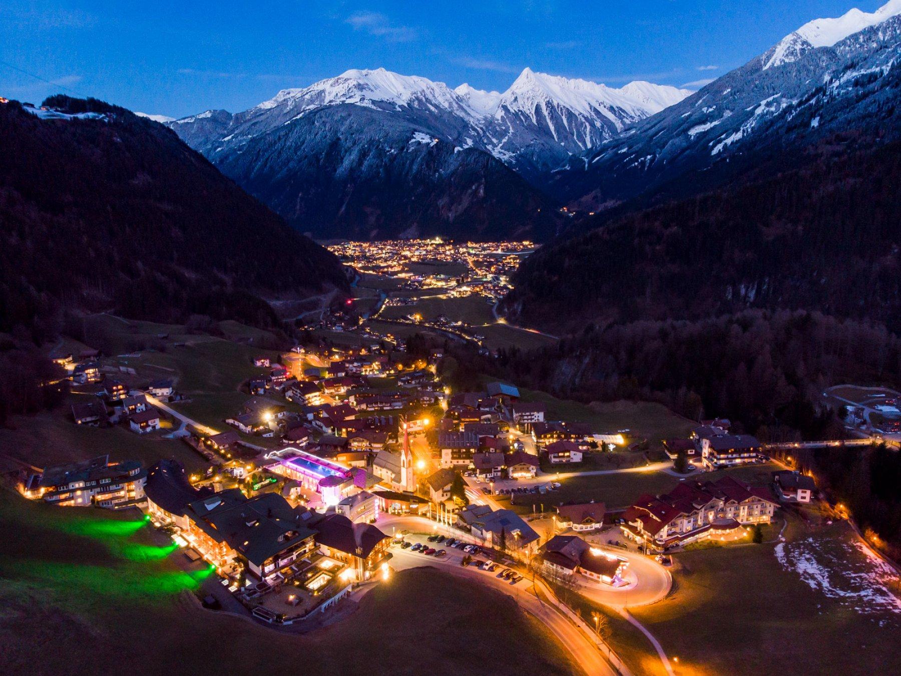 Mayrhofen w dolinie Zillertal