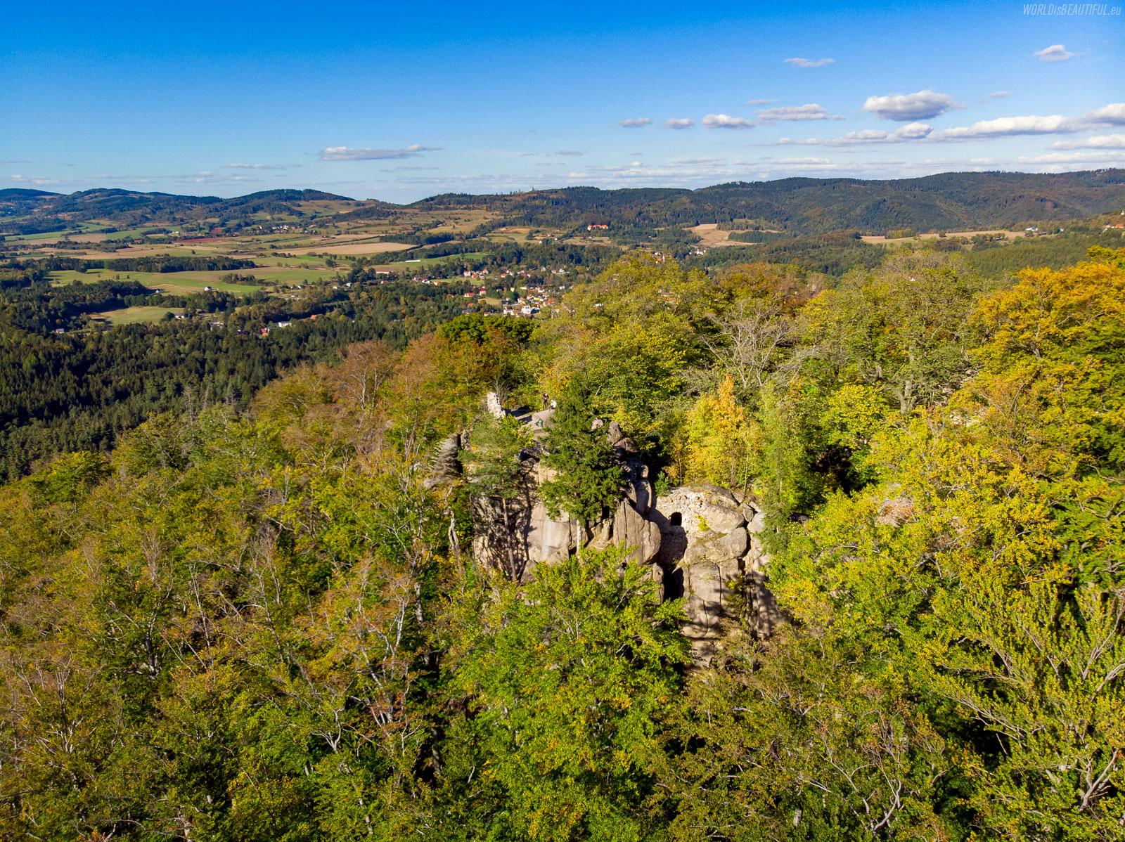Zamek Bolczów i Góry Kaczawskie