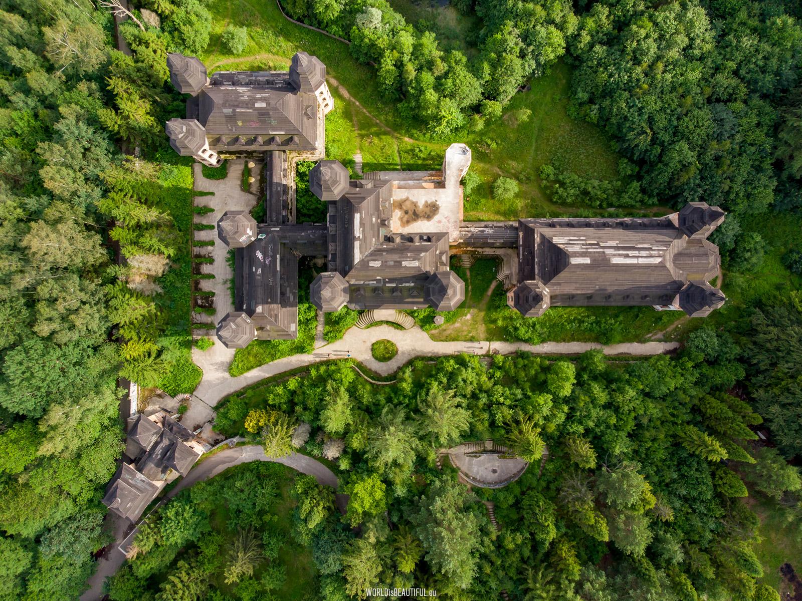 Zamek - widok z góry