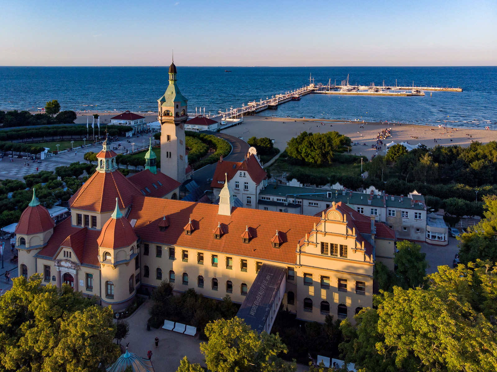 The lighthouse in Sopot