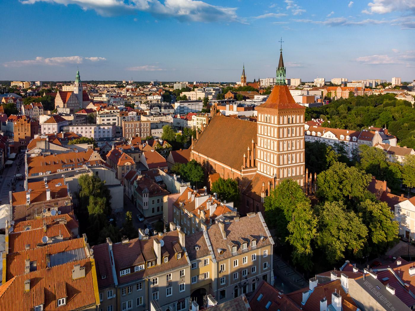 Olsztyn - panorama of the city