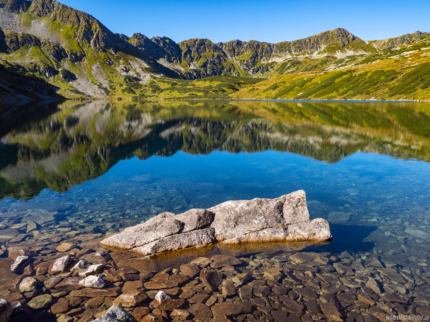 The deepest lake in the Tatras