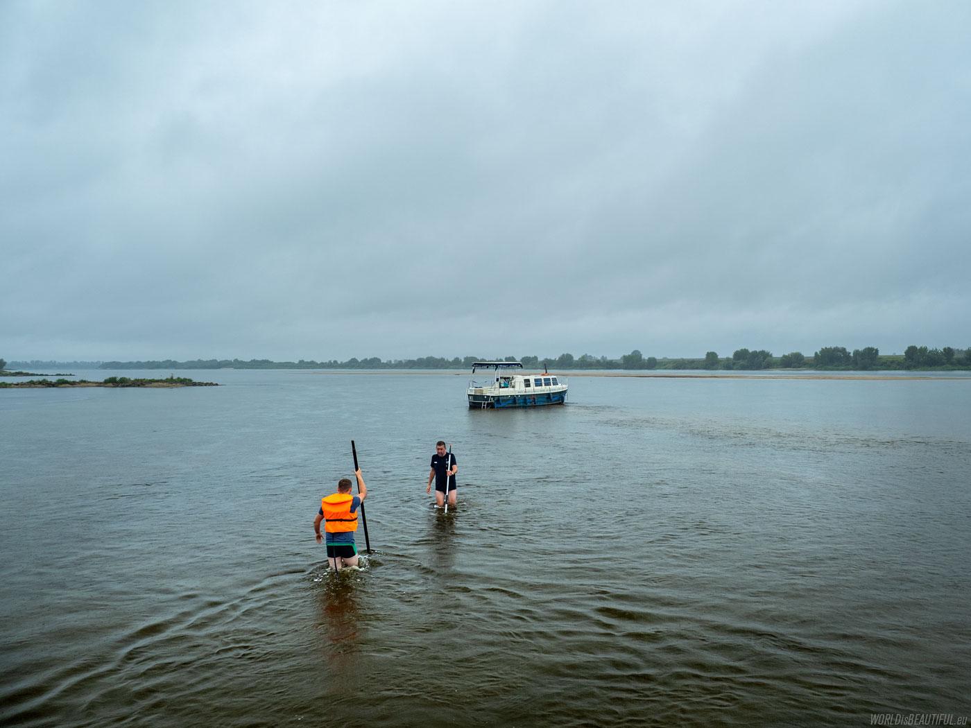 Rescue operation on the Vistula