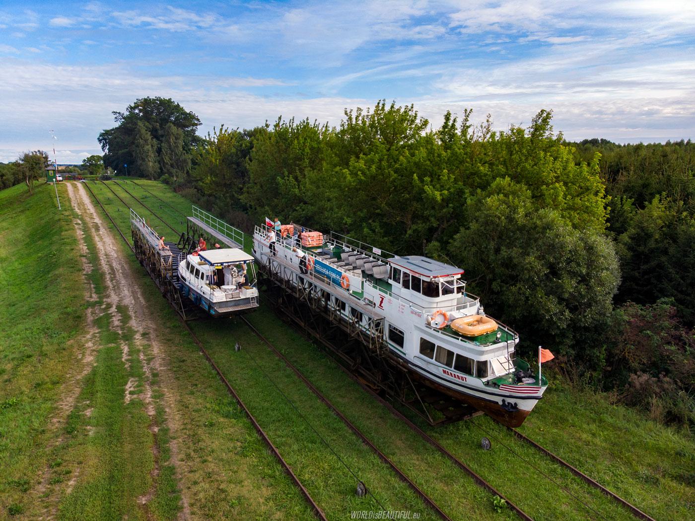 Ships on rails