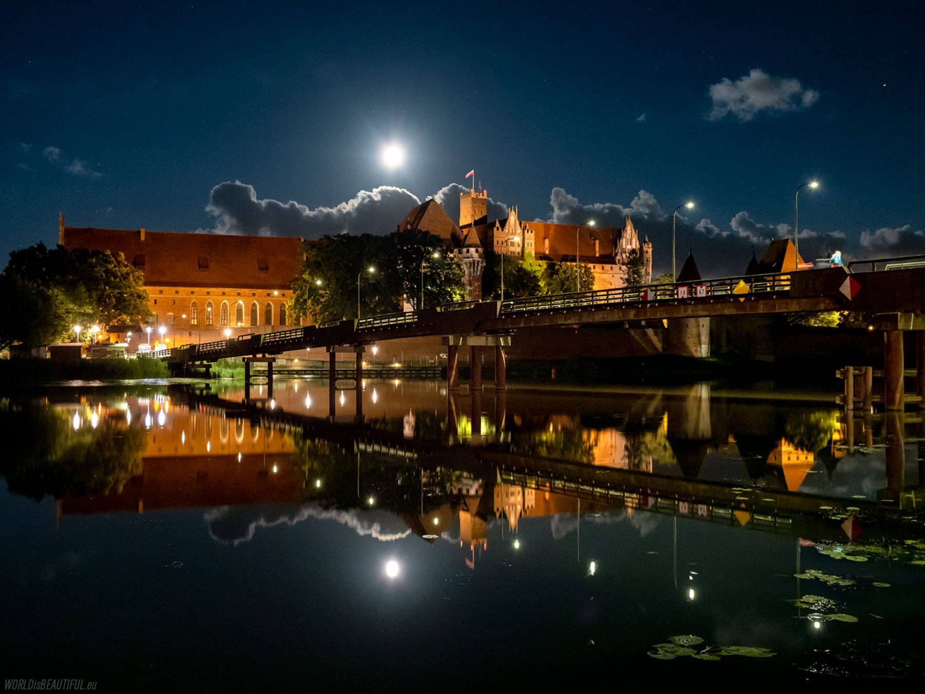 Malbork by night