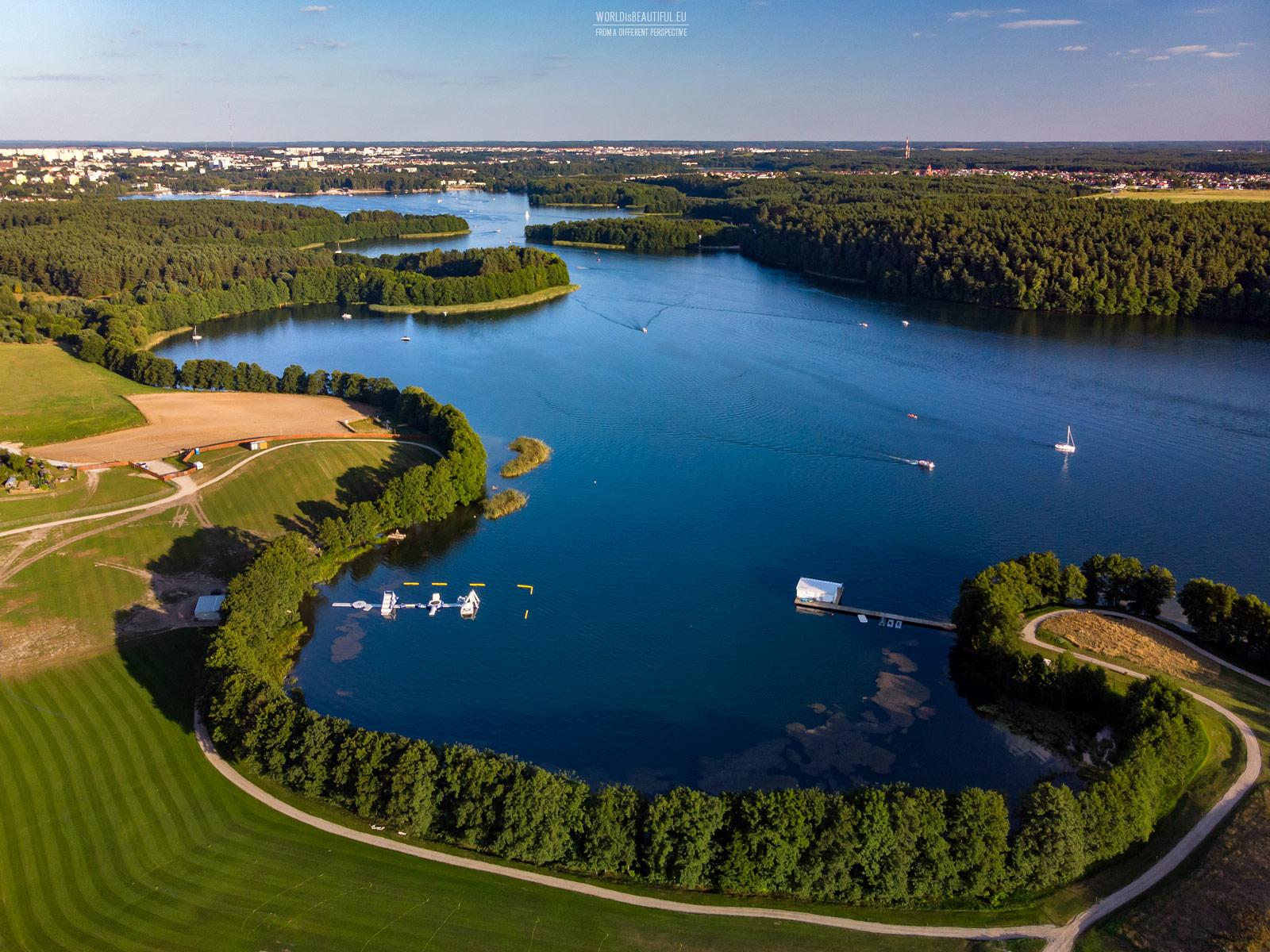 Ukiel Lake in Olsztyn