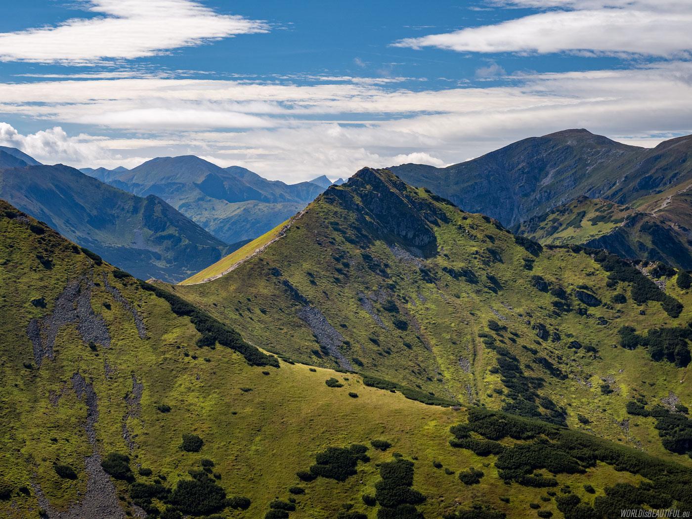 Western Tatras view from Kasprowy Wierch