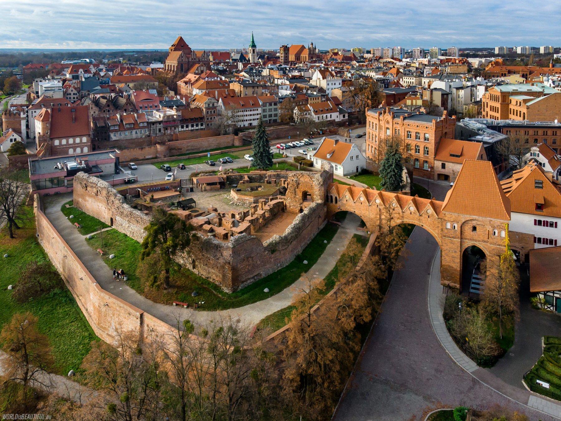 Teutonic castle in Toruń