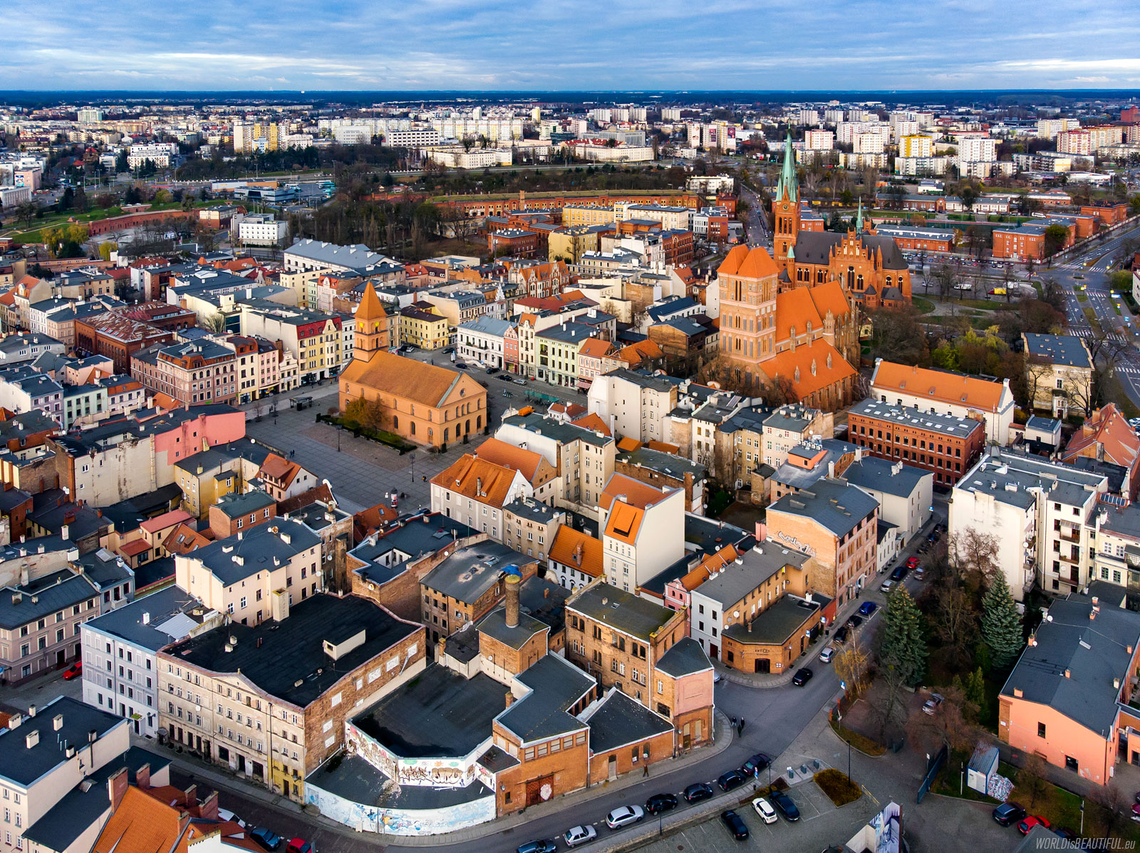 Flying a drone in Toruń