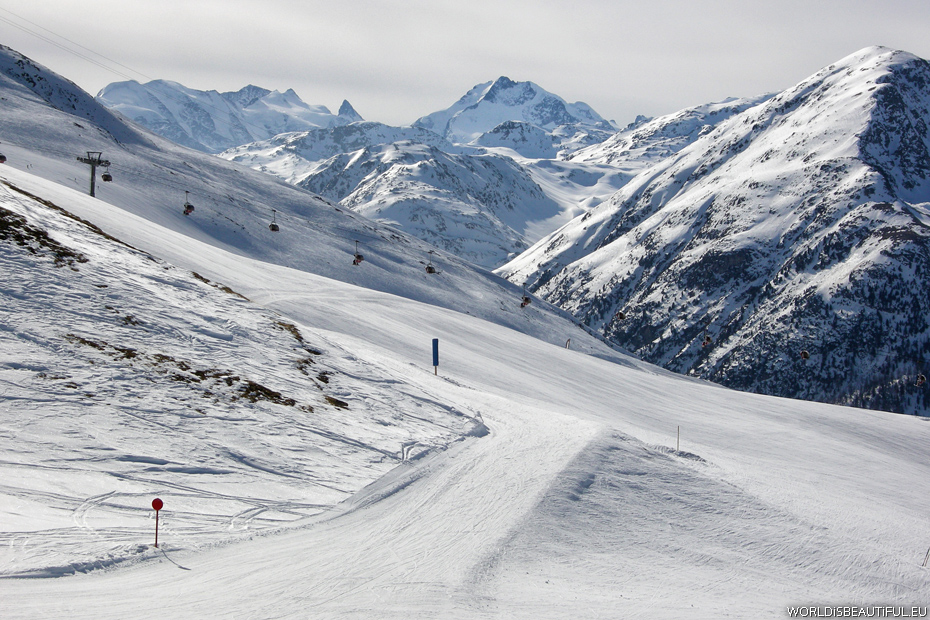 Livigno ski slopes