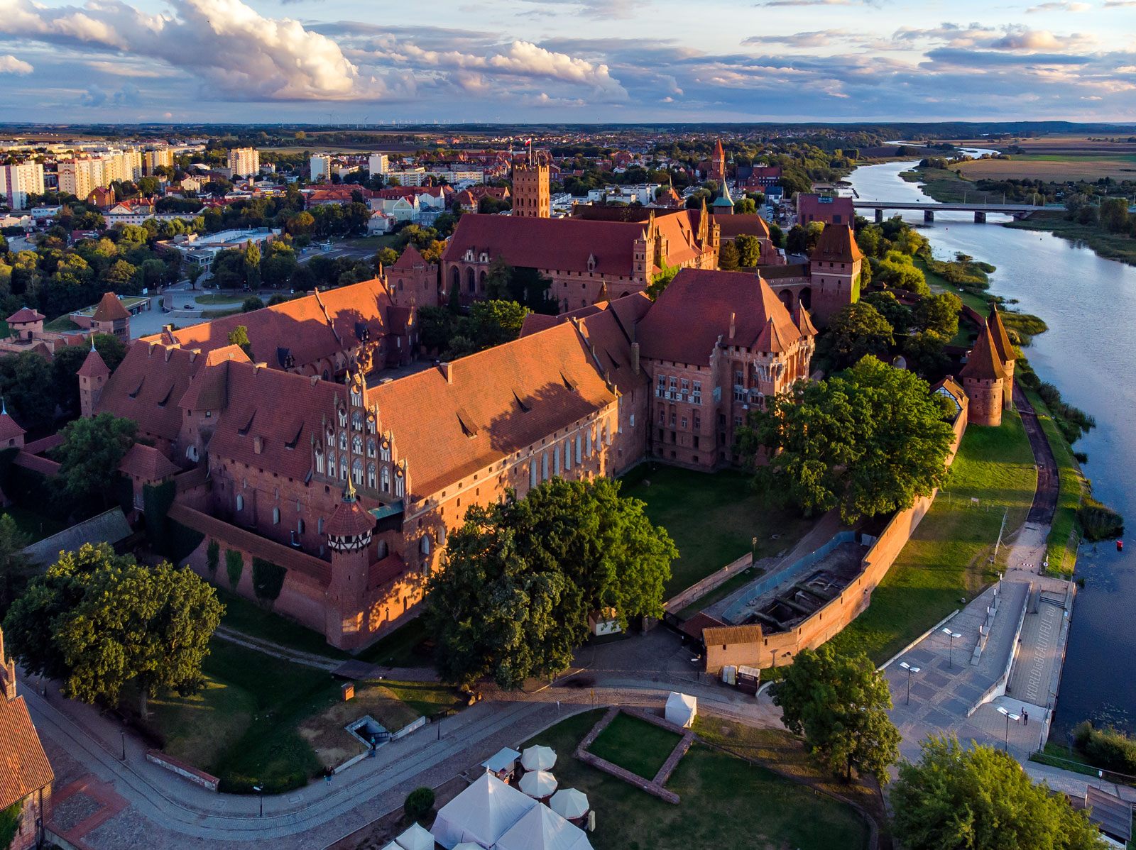 Malbork from a bird's eye view