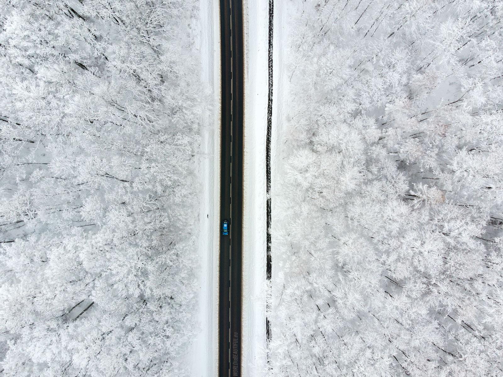Winter drone photos