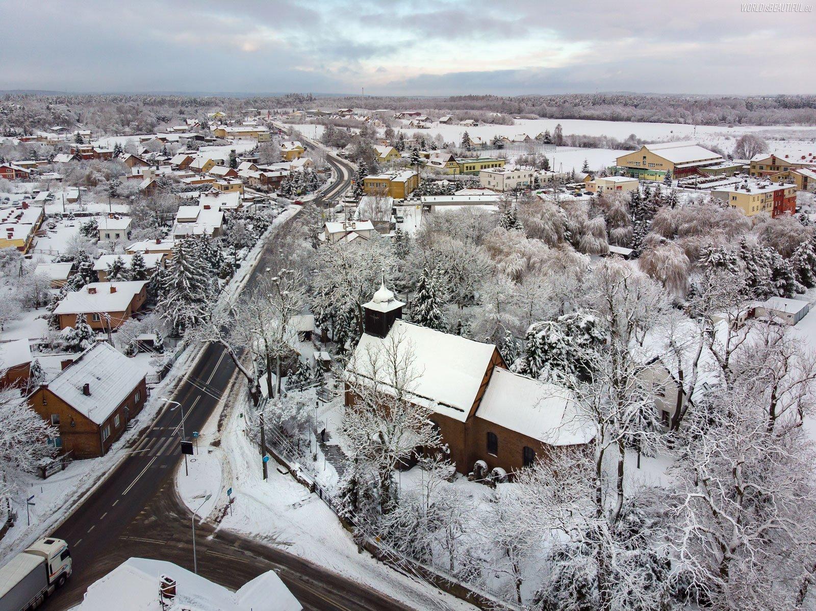 Trąbki Wielkie - zimowa panorama