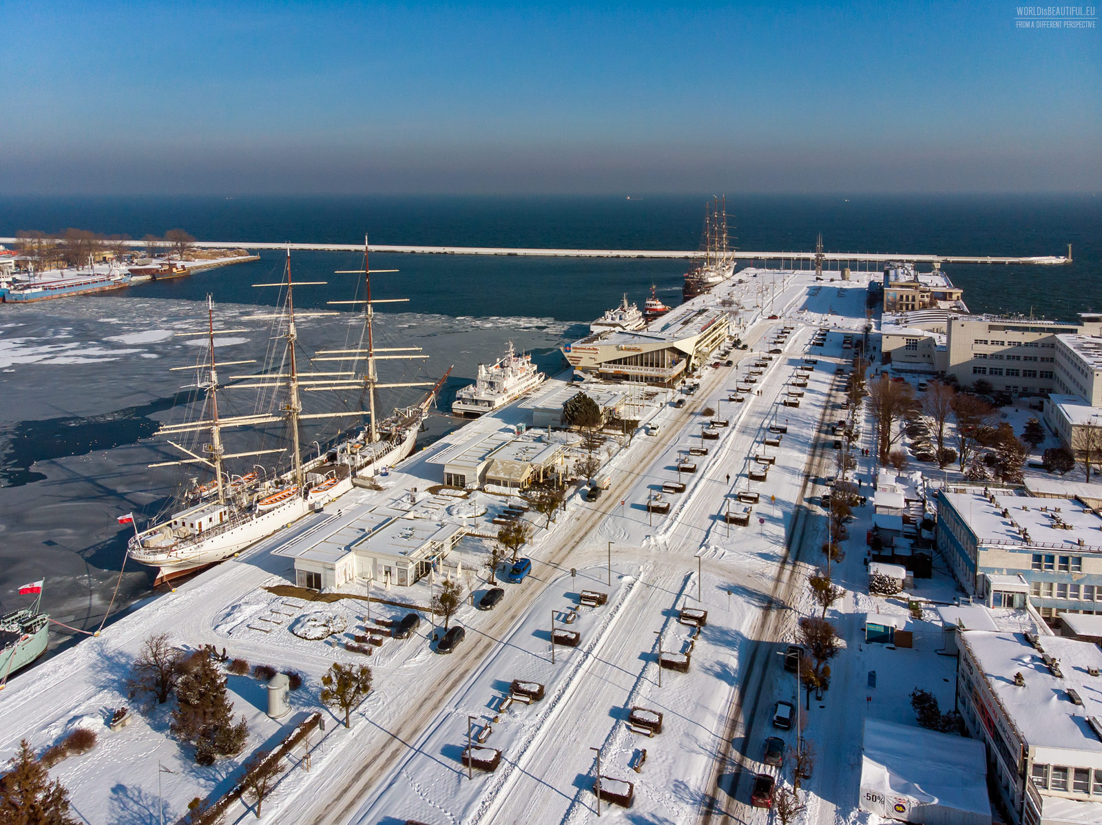 Gdynia's winter picture